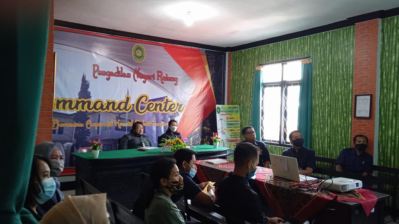 Sosialisasi e-Court Pada Pengadilan Negeri Ruteng oleh Pengadilan Tinggi Kupang